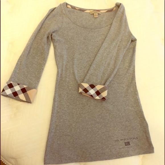 Burberry Tops - Women's Burberry Brit Grey Tee Shirt.